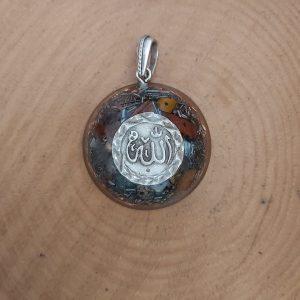 Allah lafzlı orgonit kolye ganslı ve 7 çakra taşlı